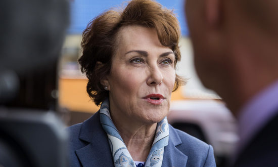Rep. Jacky Rosen, D-Las Vegas, during a press conference in from of Lindo Michoacan on Thursday, Jan. 4, 2018.   (Jeff Scheid/The Nevada Independent)