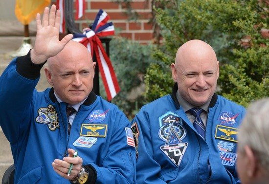 Now retired twin astronauts, Scott and Mark Kelly, are subjects of NASA's Twins Study. Scott (right) spent a year in space while Mark (left) stayed on Earth as a control subject. Researchers looked at the effects of space travel on the human body.