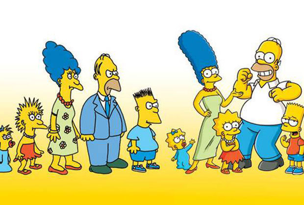 Image result for the simpson then and now