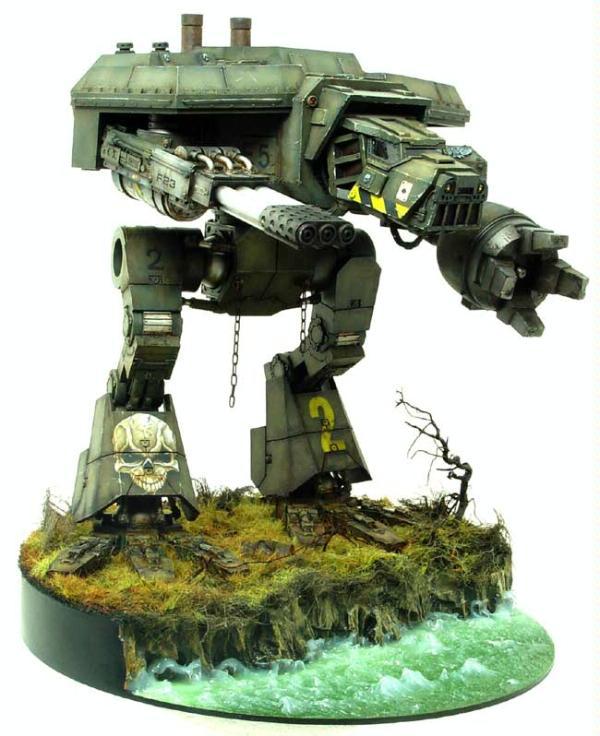 Freehand, Titan, Warhammer 40,000, Warhound, Water