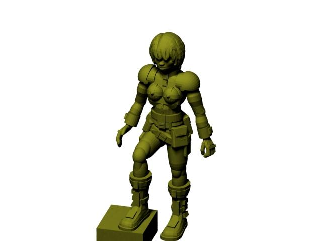 28mm, 3d, 3d Printer, Download, Female, Free, Girl, Miniature, Printing, Thingiverse, Woman