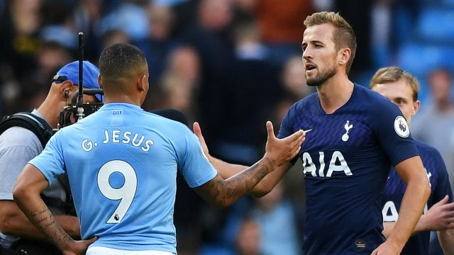 Gabriel Jesus Harry Kane Manchester City Tottenham 2019-20