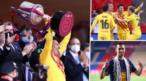 The return of the king!  Messi returned the Copa crown to Barcelona on the night of his dreams for Koeman & Laporta