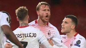 맨체스터 유나이티드 v AC 밀란 경기 보고서, 3 월 11 일 21 일, 유로파 리그
