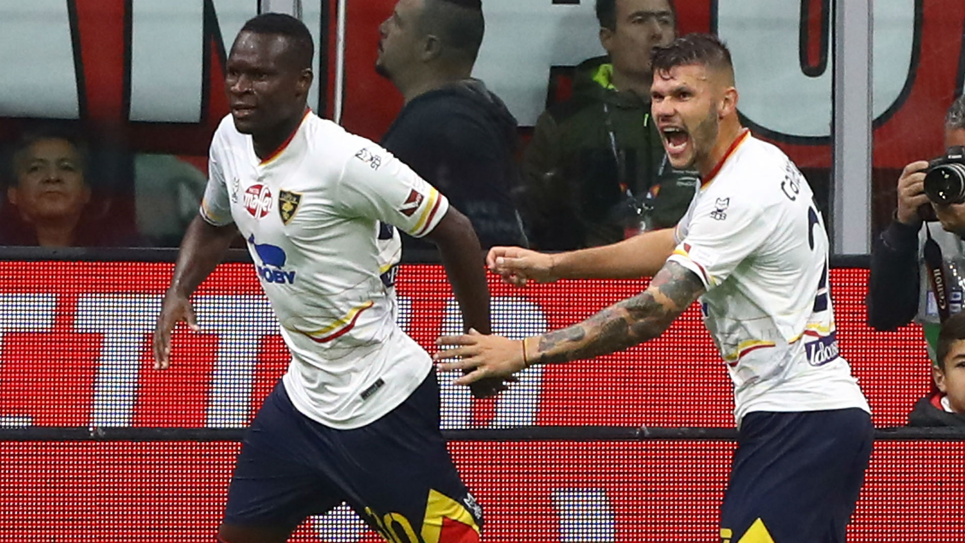 leccecropped zkwbfhu09dxf1h8ncbw01or7o - Lecce strike late to earn draw at AC Milan on Pioli's debut