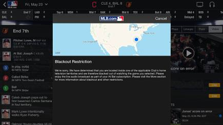 MLB.tv's blackout rules and you: Which cities are impacted the most?   Sporting News