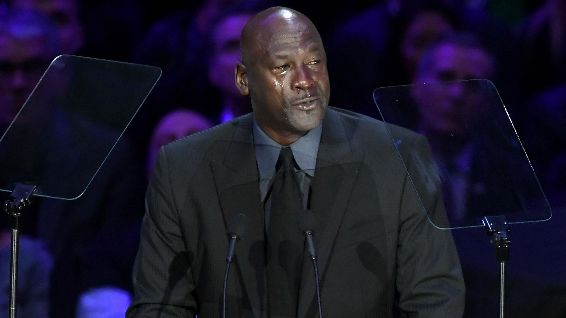 Michael Jordan Referenzen Weinen Jordan Mem Wahrend Seine