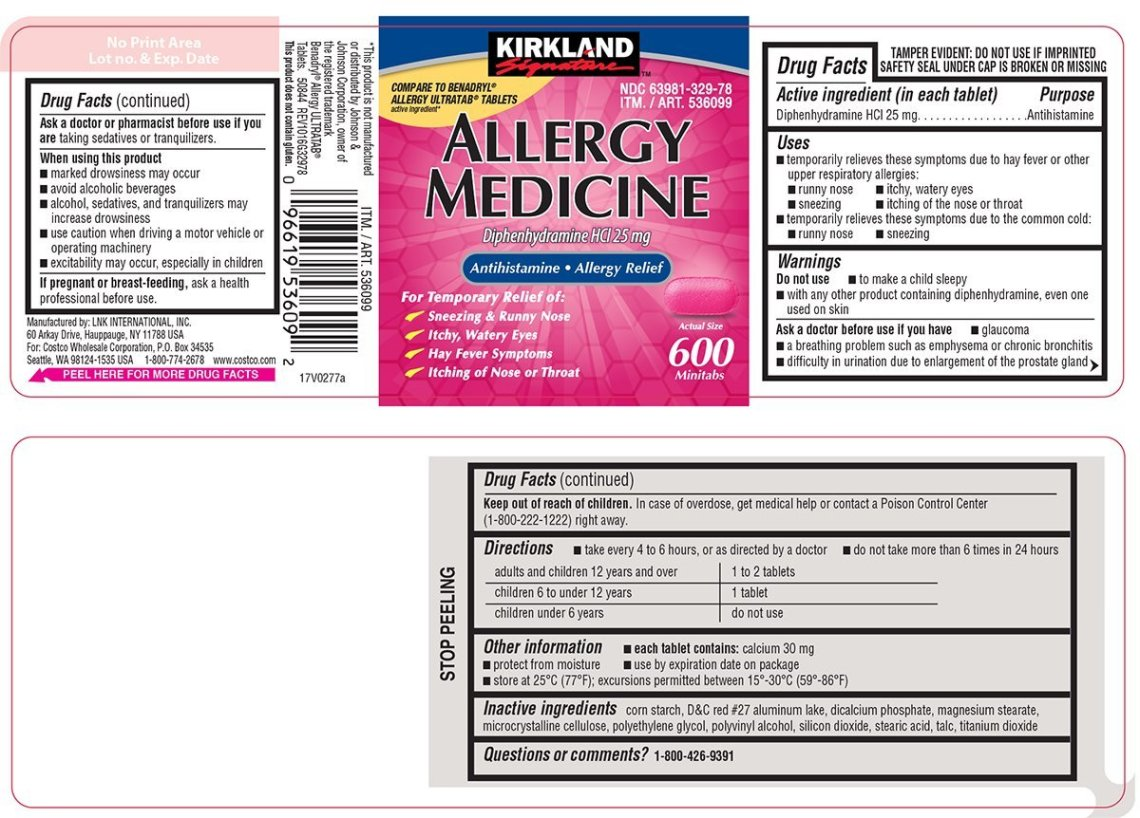 Allergy Medicine (COSTCO WHOLESALE CORPORATION) DIPHENHYDRAMINE ...