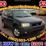 Sold 2002 Ford Escape Xlt In Phoenix