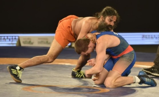 baba ramdev defeated olympic medalist