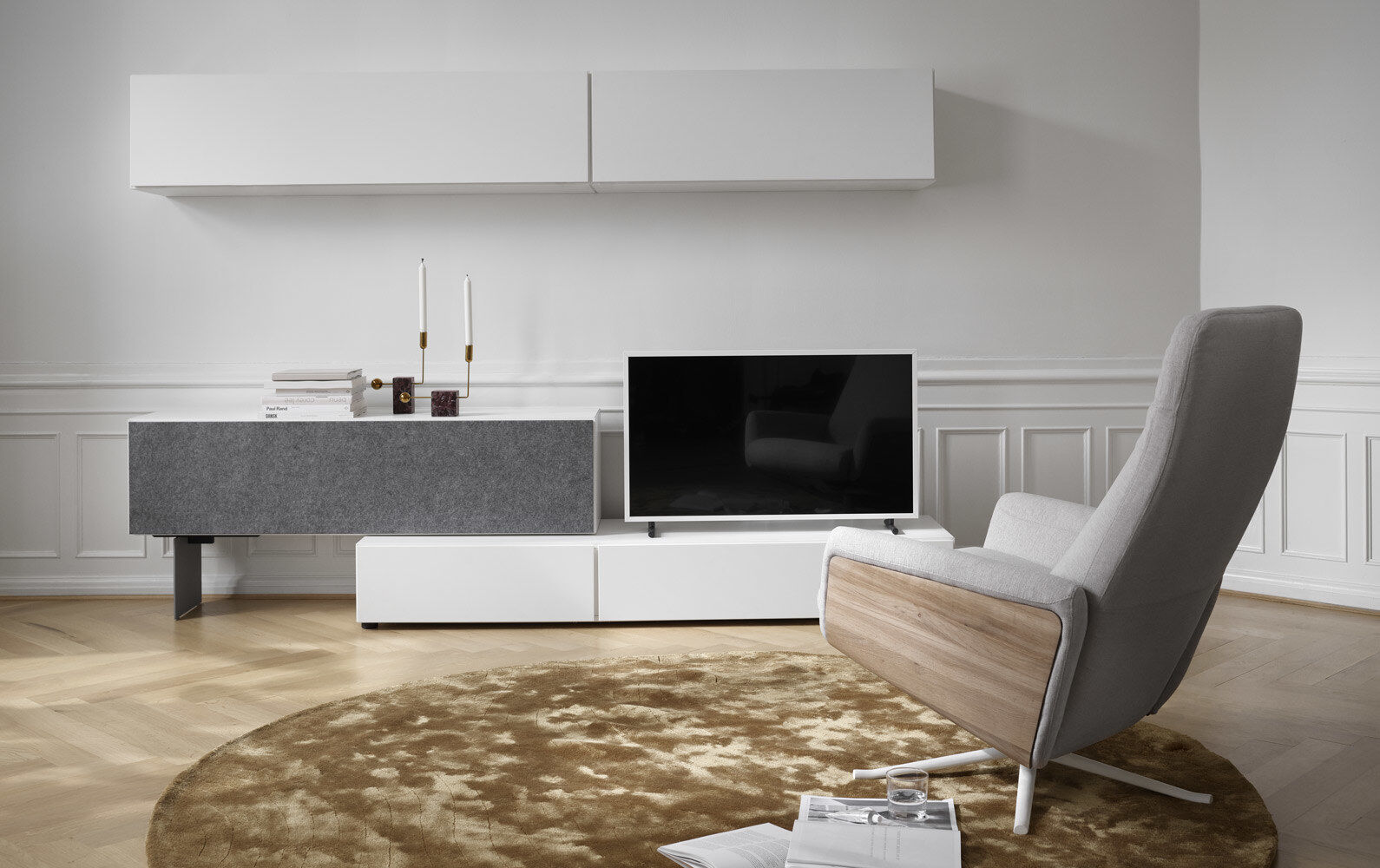 meuble lugano avec fixation murale et porte abattante