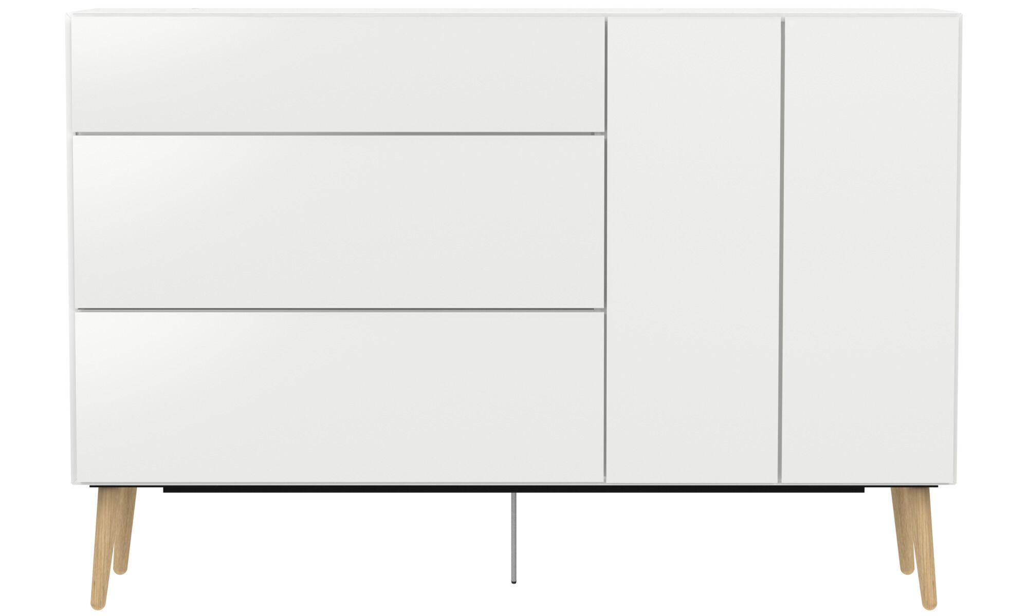 buffet lugano avec tiroirs et porte abattante