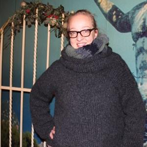 Das krönende Ergebnis der Shopping-Diät von Nunu Kaller: Zwei selbst gestrickte Pullover.