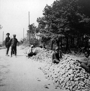 Das erste Angebot der chinesischen Führung, Soldaten zu schicken, lehnten die Briten nach ab, 1916 nahmen sie die Hilfe an: China schickte Arbeiter -zwischen 20 und 40 Jahre, im Schnitt 1,80 Meter groß und viele kampfkunsterprobt - nach Frankreich