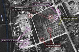 Jetzt aufgetauchte Luftbilder aus dem Jahr 1945 weisen Bombentrichter auf, in denen womöglich ermordete Lagerinsassen verscharrt worden sind, vermutet der Grazer Arzt Rainer Possert.