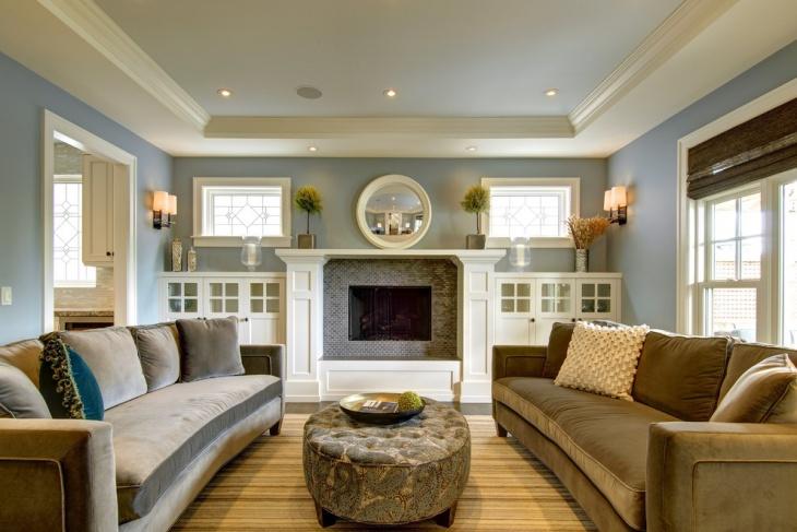 19 Blue Living Room Designs Decorating Ideas Design