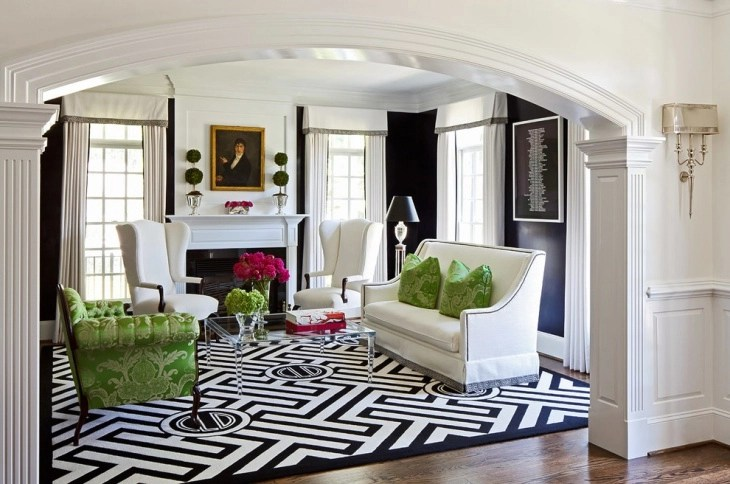 19+ Black And White Living Room Designs, Decorating Ideas