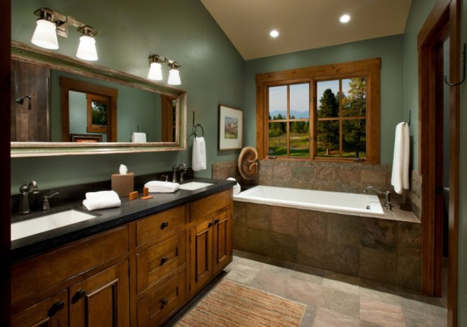 Rustic Bathroom Wall Ideas rustic bathroom wall colors : brightpulse