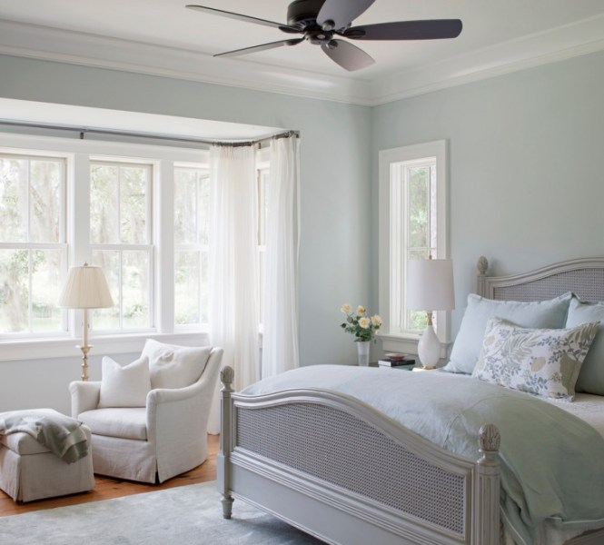 Serene Pastel Bedroom Wall Paint