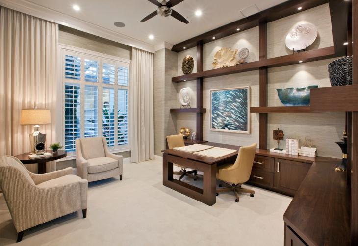 20+ Coastal Home Office Designs, Decorating Ideas