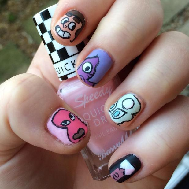 Cartoon Nail Art Pictures | Cartoonview.co