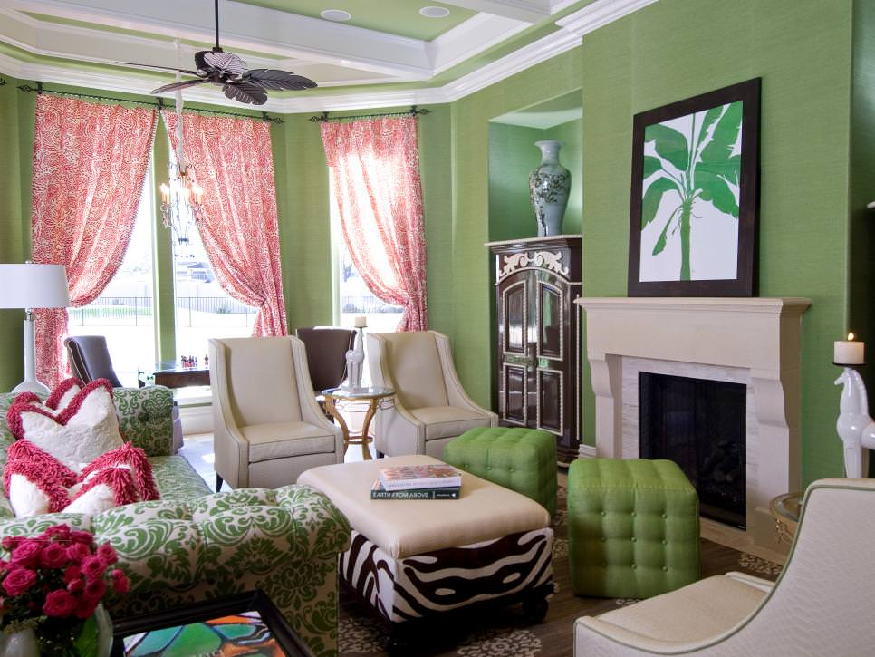 21 Green Living Room Designs Decorating Ideas Design Trends Premium Psd Vector Downloads