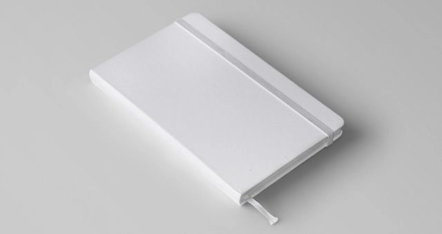 White Notebook Mockup