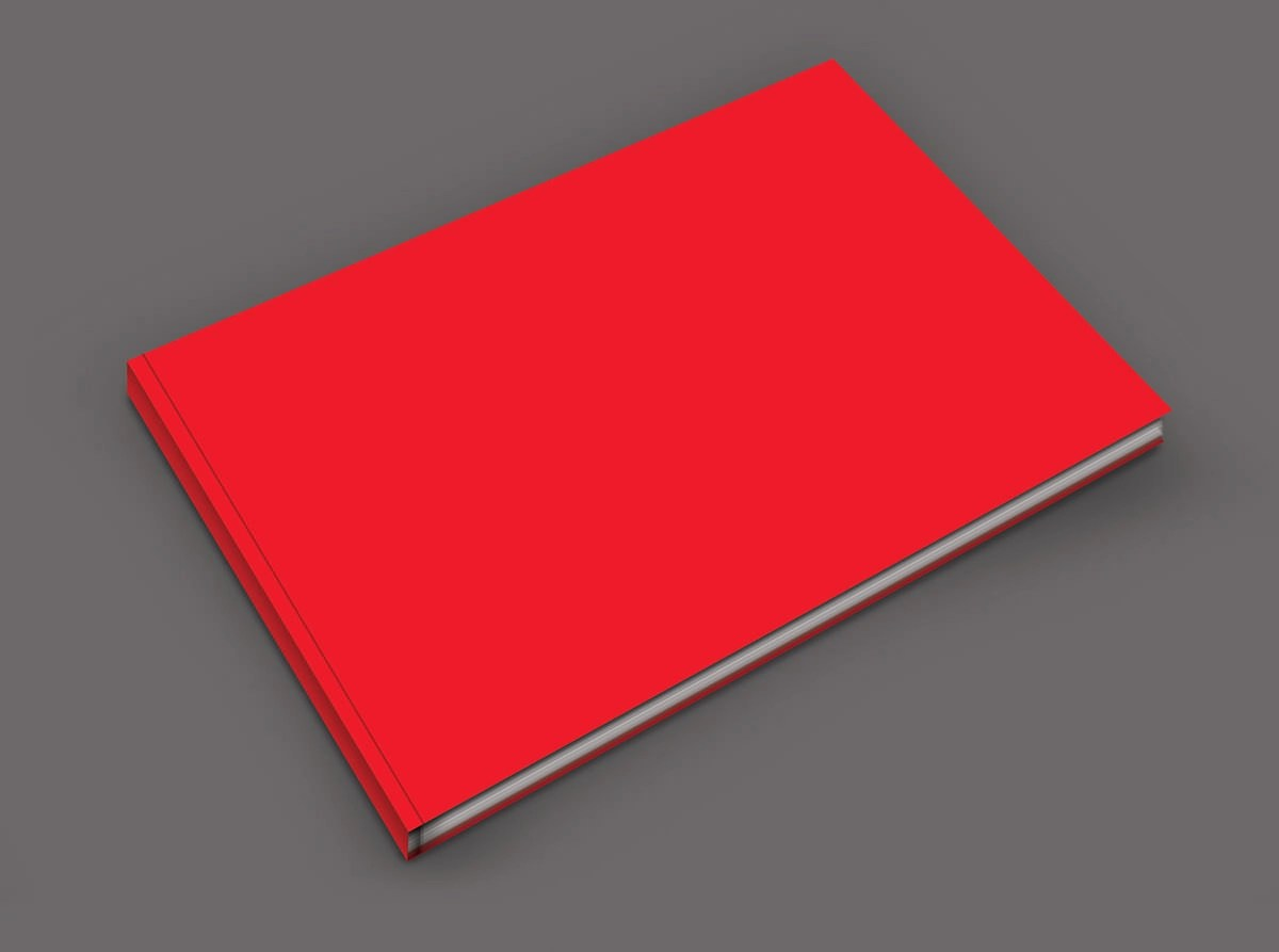 Red Notebook Mockup