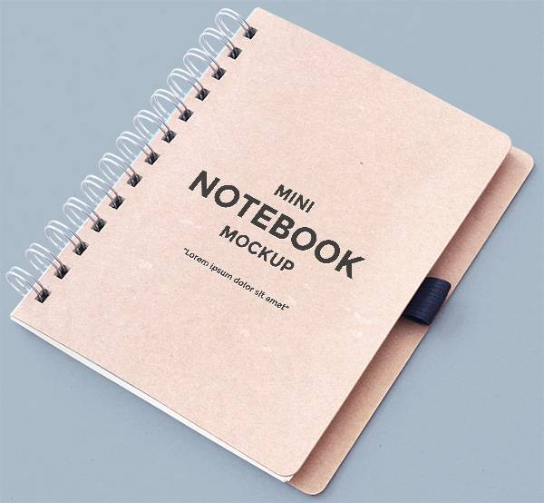 Mini Notebook Mockup