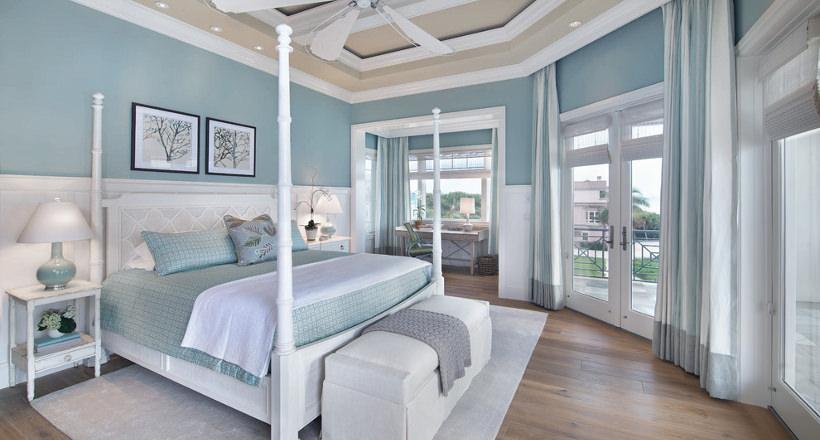 light blue room