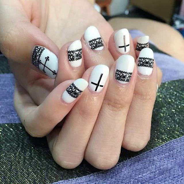 Best Elegant Cross Nail Art Designs Myeva For Healthcare Skin