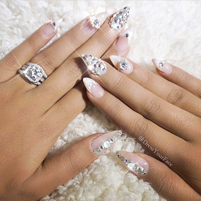 Shiny Wedding Nail Art