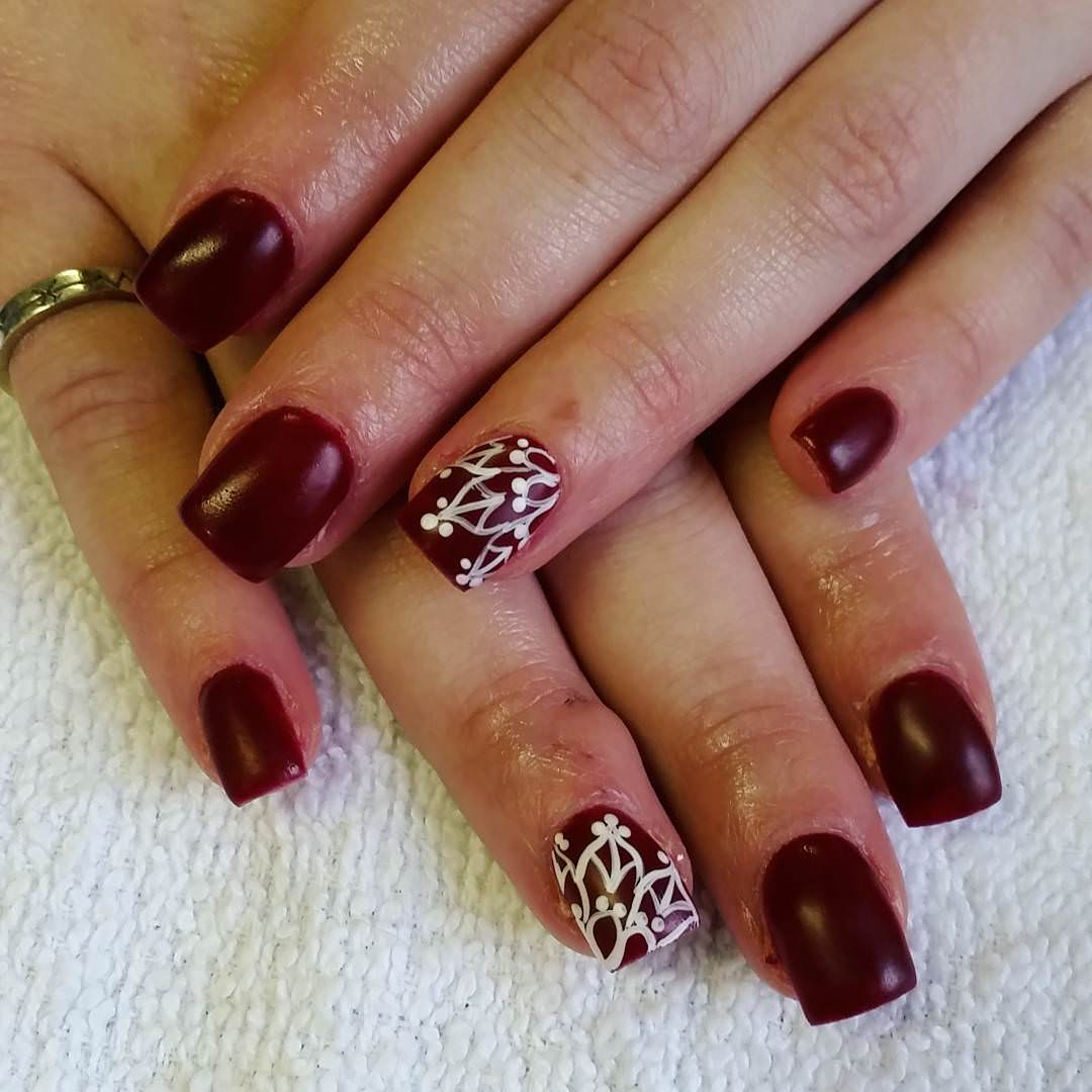 Cly Brown Nail Art Idea Fall Design