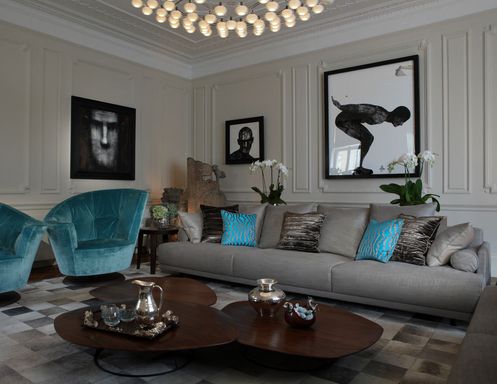 24 Gray Sofa Living Room Furniture Designs Ideas Plans Part 55