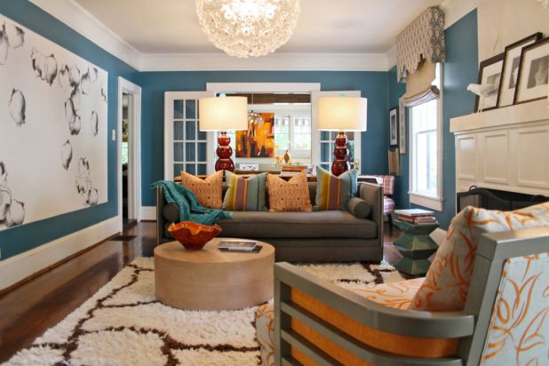Blue And Brown Living Room Images | Iammyownwife.com