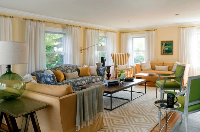Interior White Sofa Idea Orange Wallpaper Color Tv Room Design Ideas Clear Gl Window Hanging Narrow Living