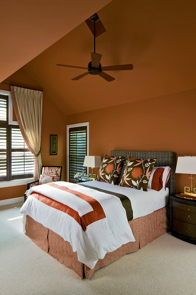 24 Orange Bedroom Designs Decorating Ideas Design
