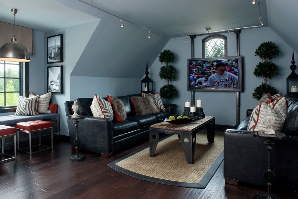 23+ Black Living Room Couches, Designs, Ideas, Plans