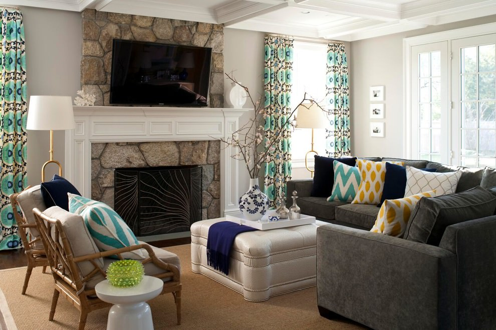 24+ Gray Sofa Living Room Designs, Decorating Ideas
