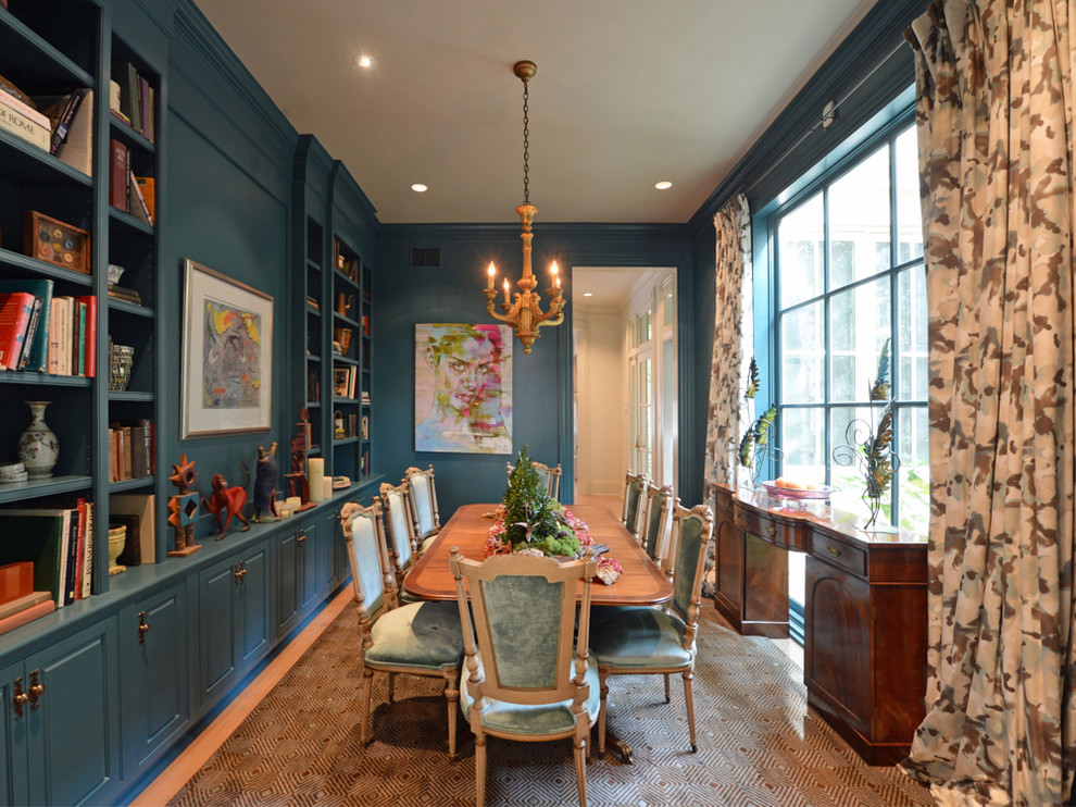 25 Blue Dining Room Designs Decorating Ideas Design