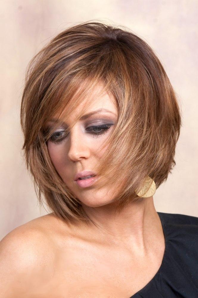 Layered Bob Haircut With Fringe