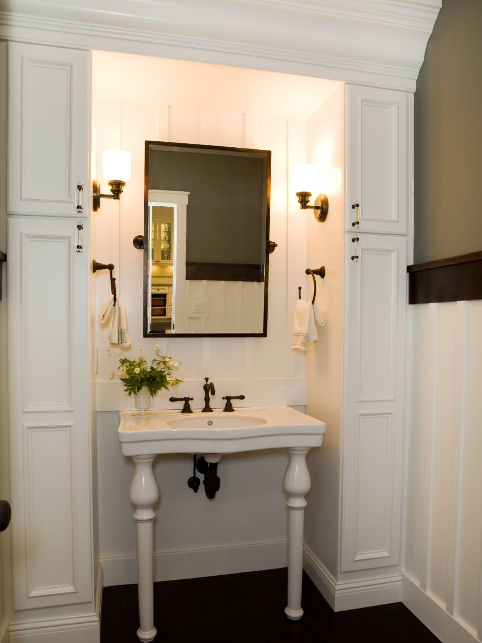 Under Pedestal Sink Storage Cabinet Corner Bathroom Sinks Amys