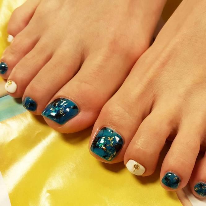 Toe Acrylic Nail Design Idea