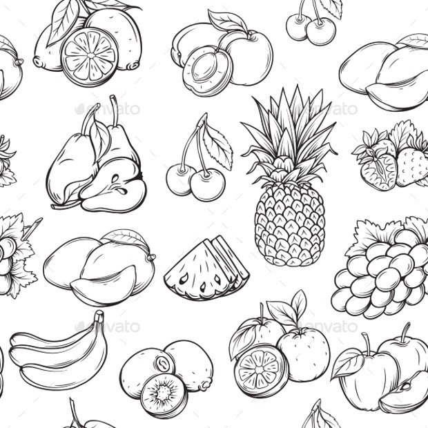 27 Fruit Patterns Textures Backgrounds Images Design