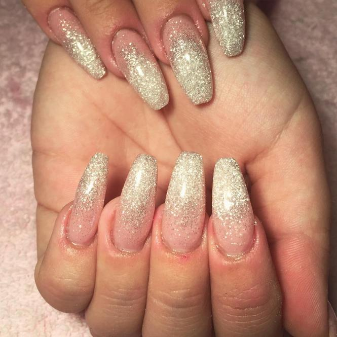 Nail Designs With Glitter Acrylic
