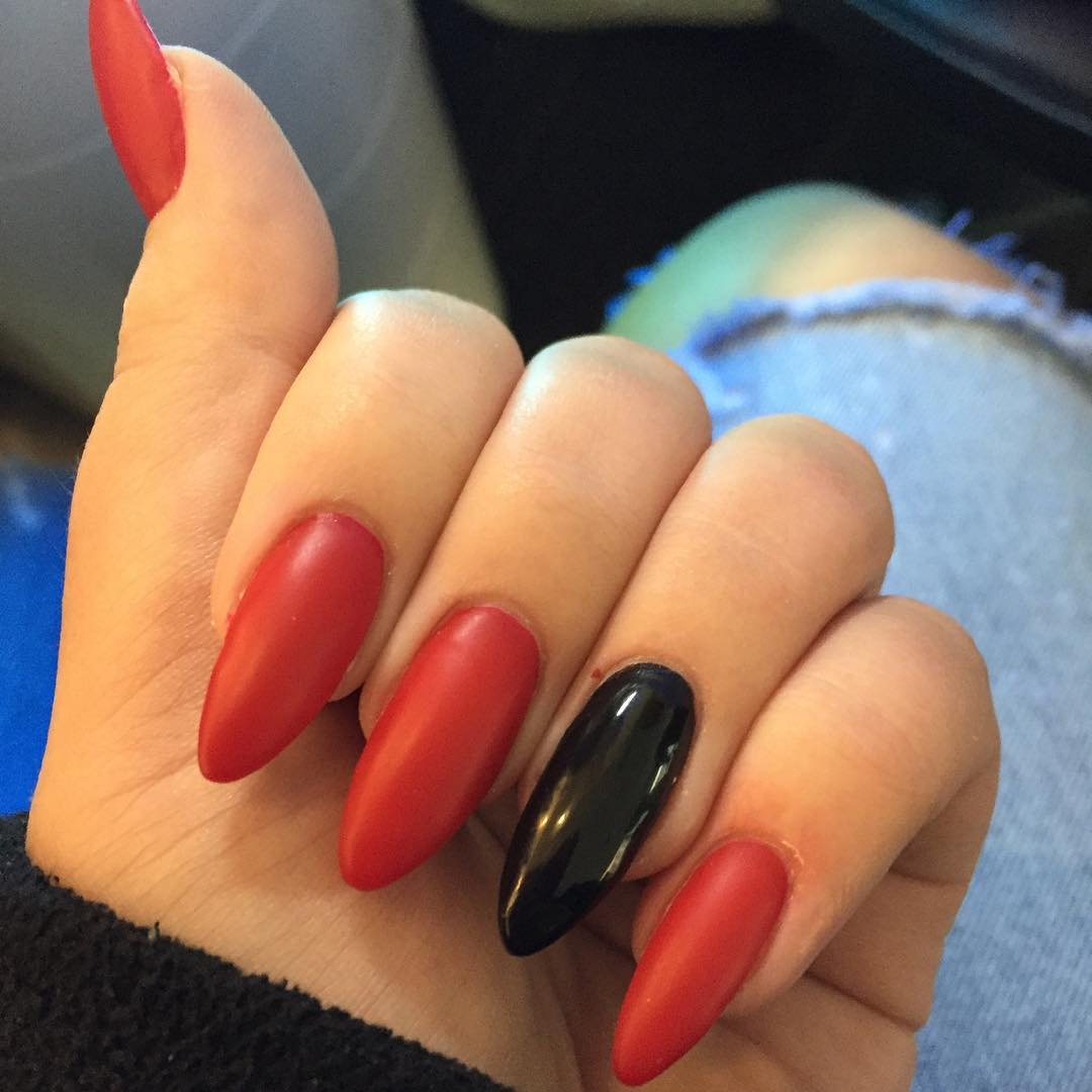 Red And Black Nail Art Trend