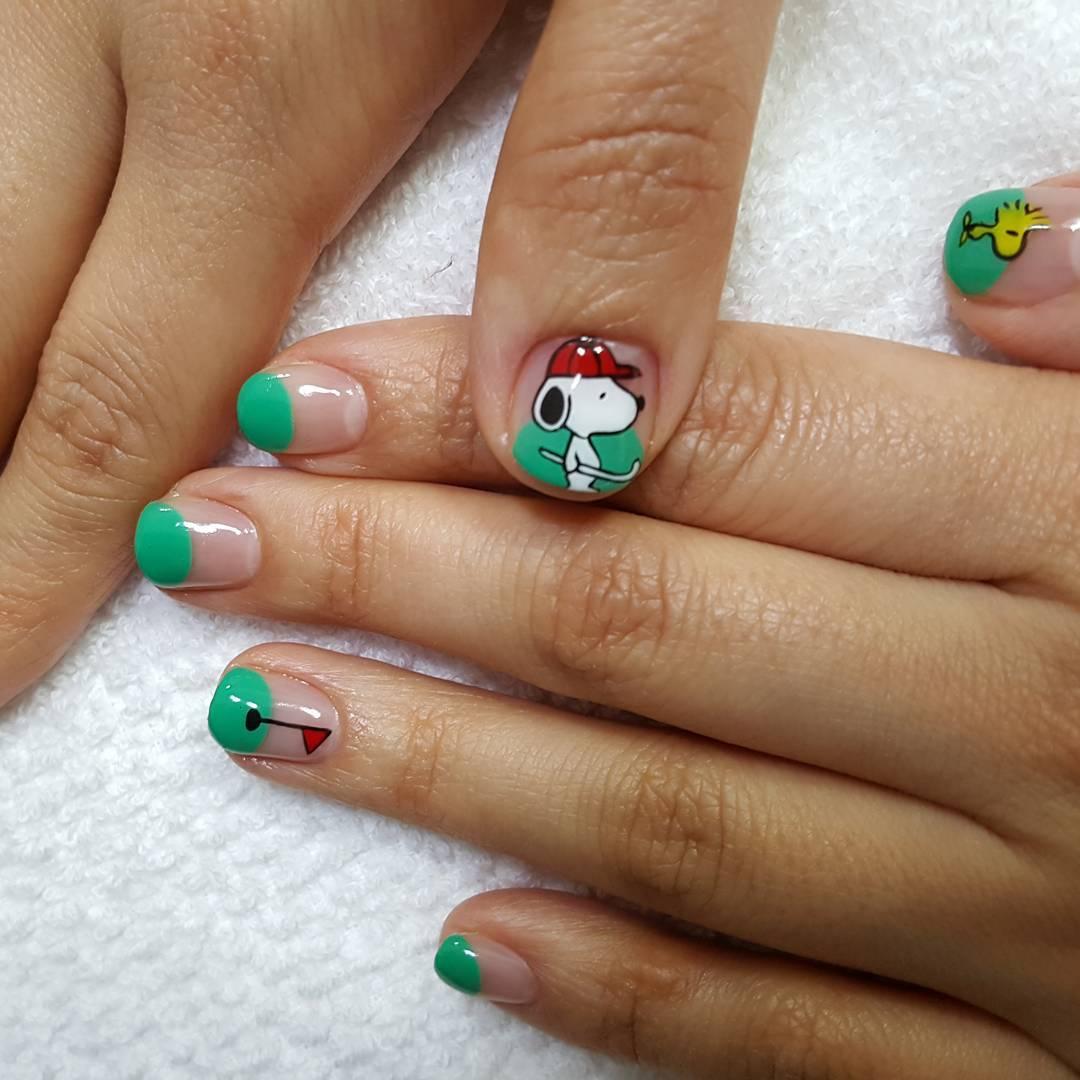 Fun Summer Gel Nail Paint Design