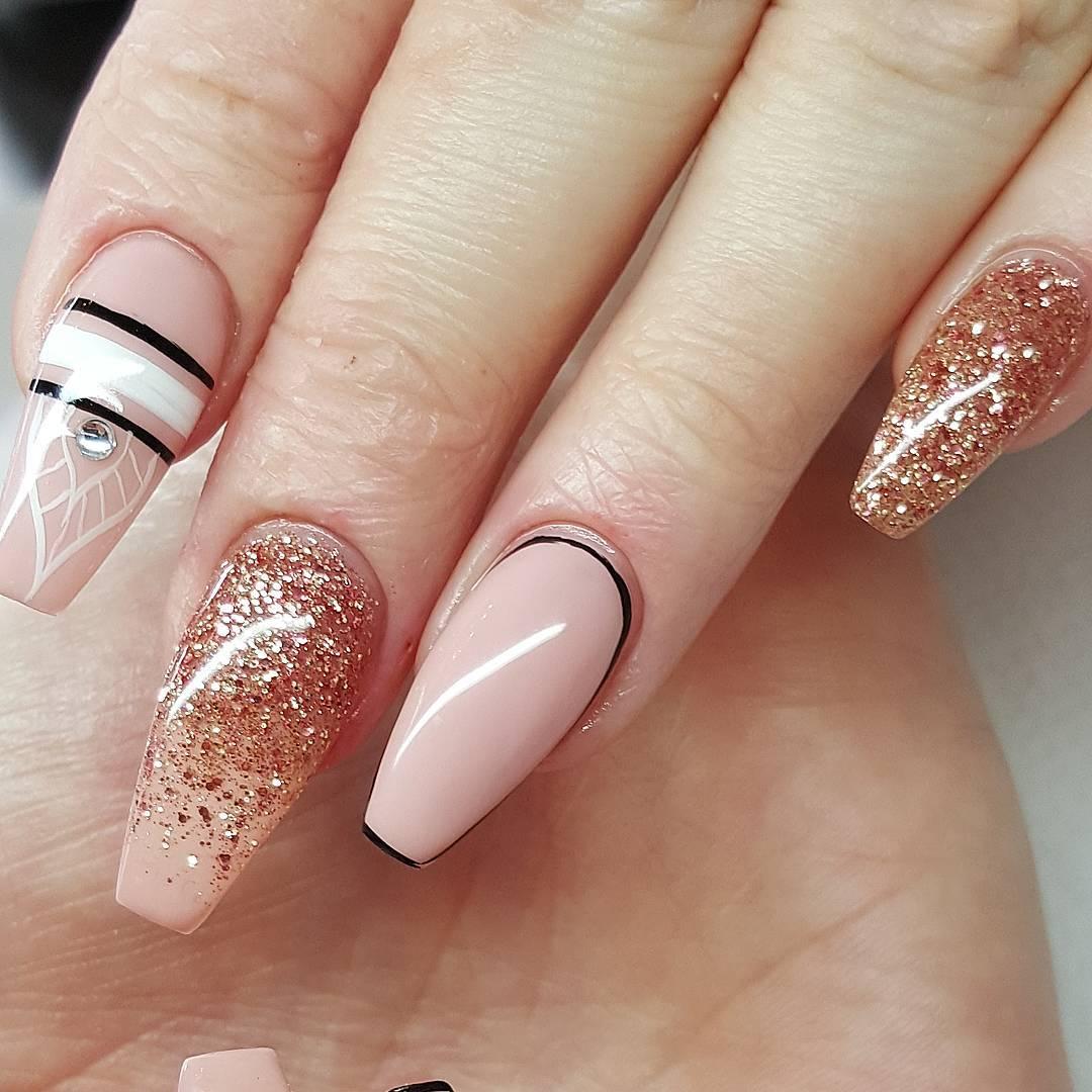 Pink And Gel Polish Design