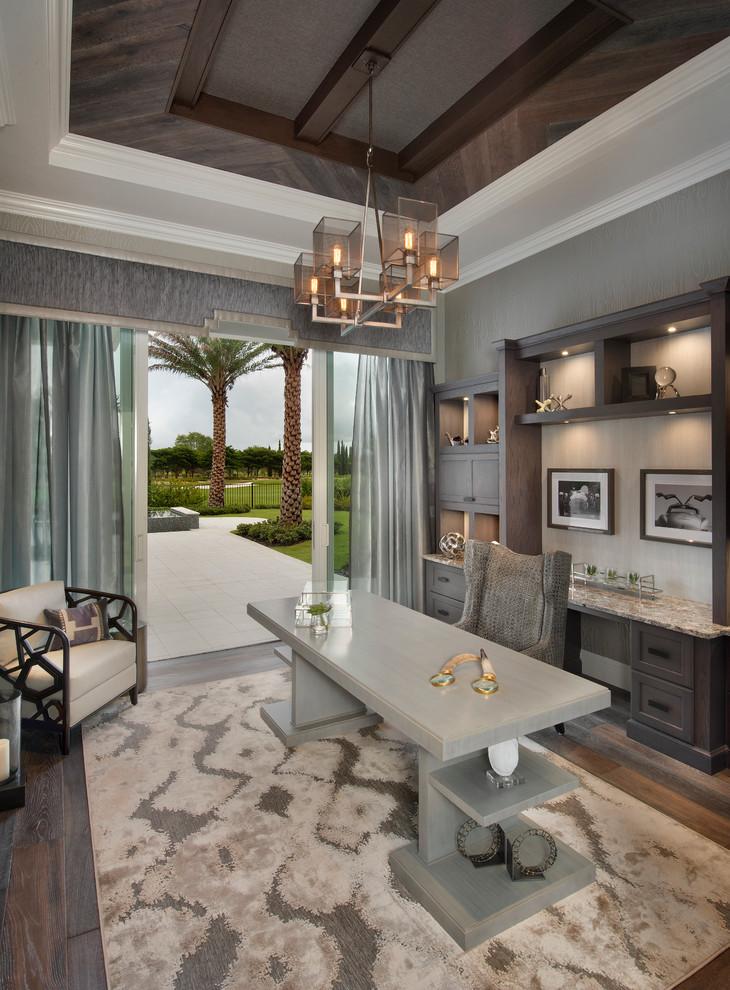 21 Gray Home Office Designs Decorating Ideas Design