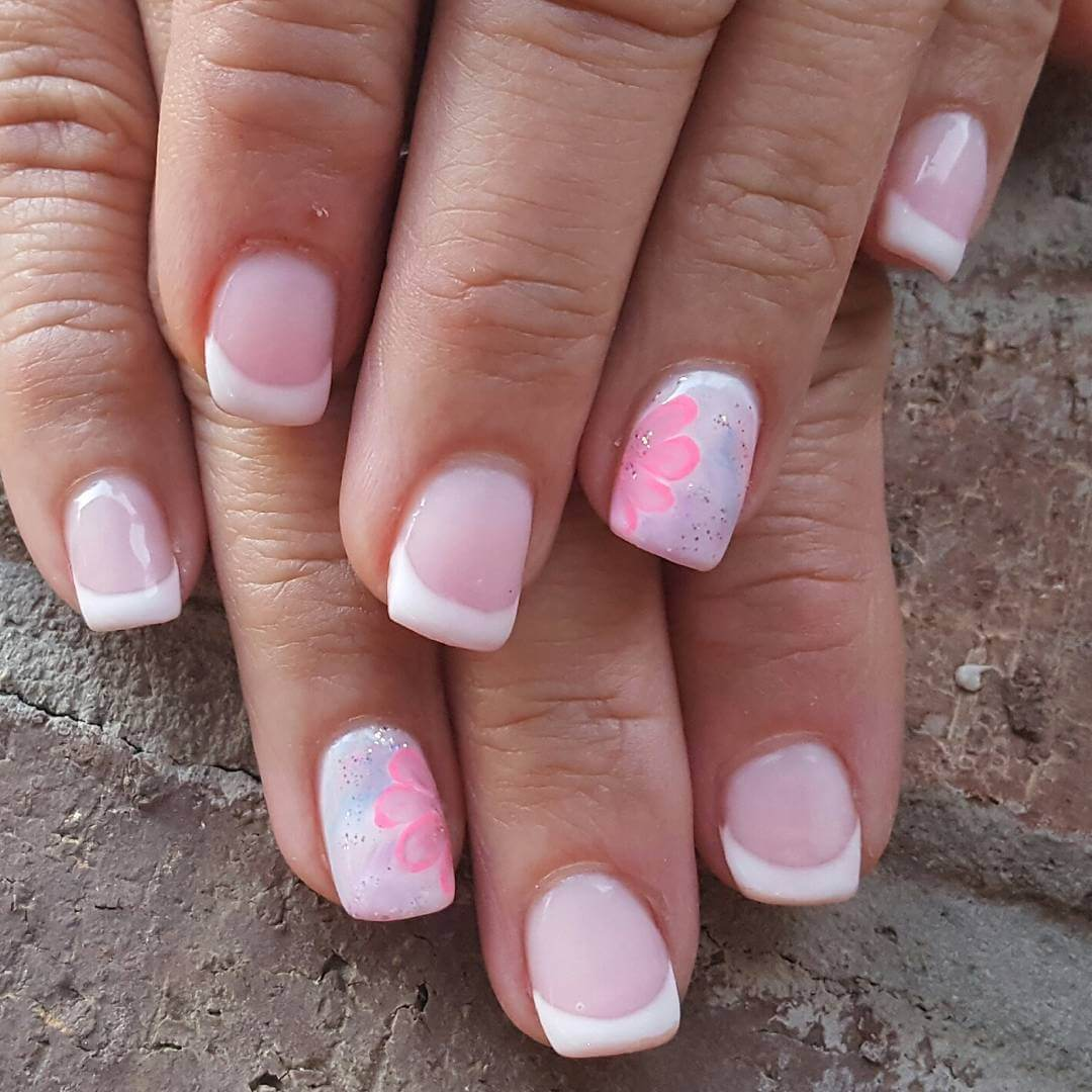 Pink French Manicure Ideas Papillon Day Spa